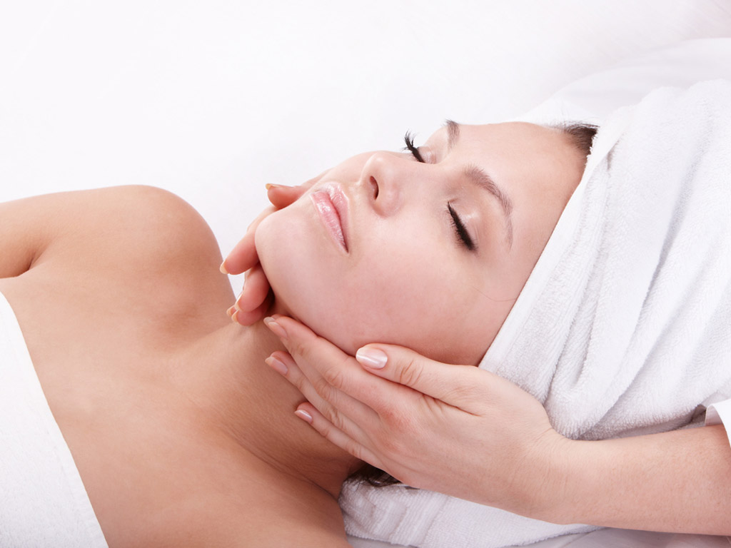 Receiving skincare treatments in Huddersfield